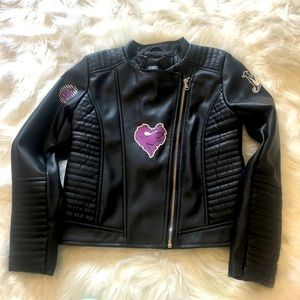 NWOT Disney Descendants 2 Mal Faux Leather Jacket